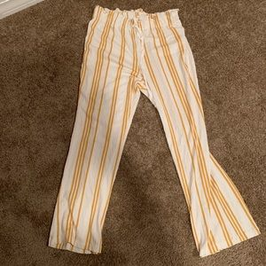Yellow and White Striped Hippy Pants